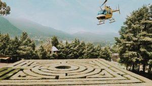 laberinto helicoptero picnic traslado amarillo