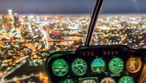 paisaje noche helicoptero nocturno